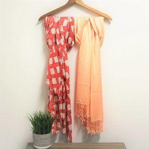 🌟3/$25🌟LOFT & Francescas-Set of two pink scarves